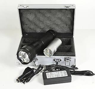 Фонарь-ксенон, 24Вт, 12V, 2000 Lm, батарея 2200 Mah, корпус алюминий