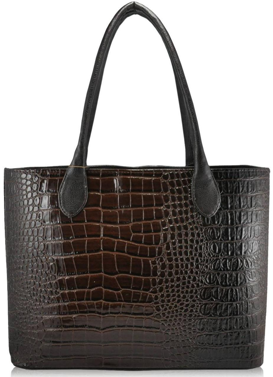 Женская сумка 35222 Crocodile коричневая