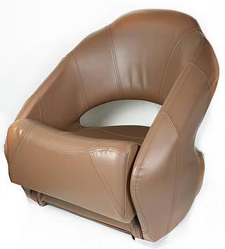 Сиденье для лодки, катера, яхты Premium Bucket с системой flip-up коричневое