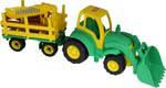 0483 Трактор Чемпион с ковшом и прицеп-лесовоз