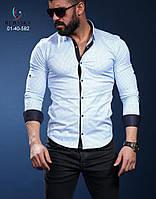 Мужская брендовая рубашка - Турция - 01-40-582