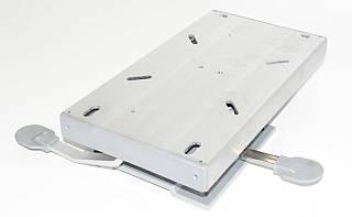 Поворотная пластина с фиксатором и слайдером 383120L алюминий