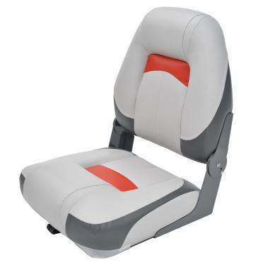 Сидіння для човни, катери, яхти Premium High Back Сірий/Вугілля/Червоний