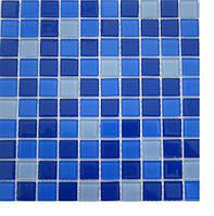 Стеклянная мозаика для бассейнов Cristall 2,5х2,5 Джамайка темная