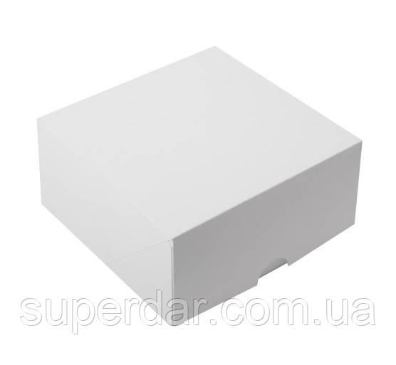 Коробка для кусочков торта, пирожных и др. изделий 165Х165Х80 мм.