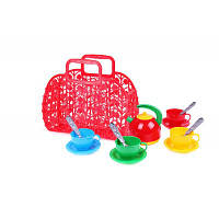 """Игрушка детская """"Корзинка с набором посуды для чаепития """"  Технок Украина  25×21.5×11 см"""