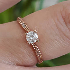 Золотое кольцо для предложения - Кольцо для помолвки золото - Помолвочное кольцо