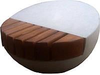 Лавка садово-парковая круглая с бетонным основанием №12