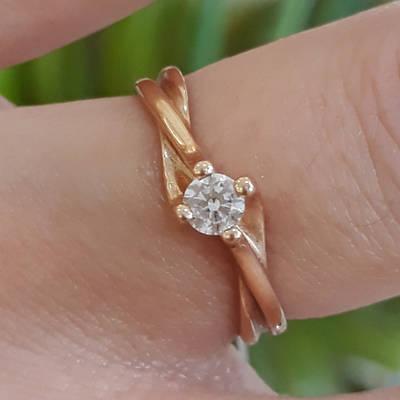 Обручку золото - Кільце для заручин золото - Кільце для пропозиції золото