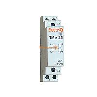 Пускатель, контактор модульный ПМм  2 полюси 25A    4кВт  230В  Electro