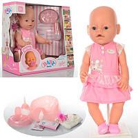 Кукла Беби Борн с аксессуарами в розовое платье аналог