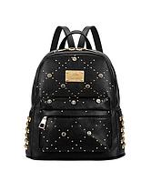 Модный черный рюкзак с заклепками