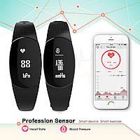 Фитнес трекер Marsno Mo1 Activity Пульс, давление Водонепроницаемый сенсорный экран Bluetooth, 2 ремешка