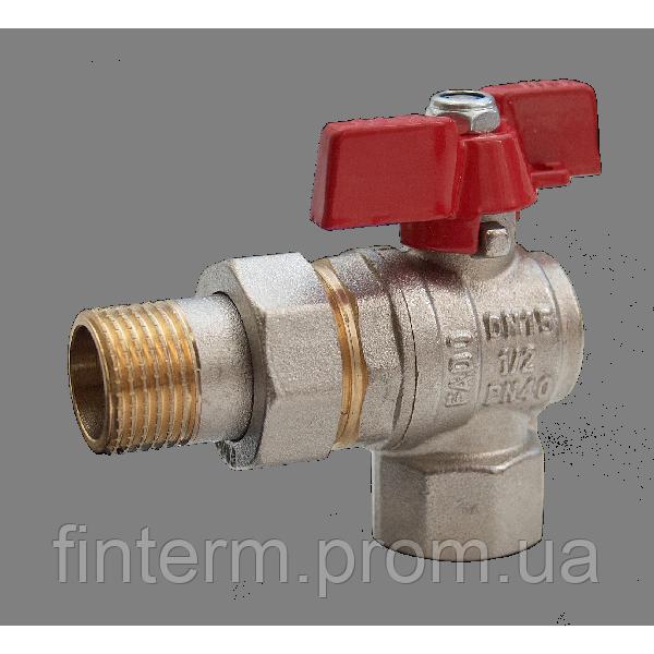 """Кран кульовий Fado американка кутовий 3/4"""" 20"""