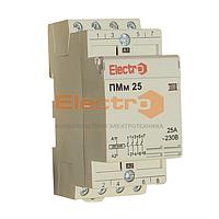 Пускатель, контактор модульный ПМм  4 полюси 25A 20кВт 380В  Electro