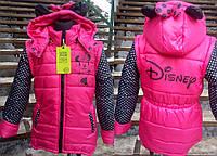 Детская куртка - жилетка микки маус   104-146.