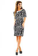 Яркое женское платье с воротничком