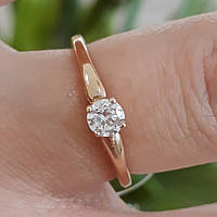 Помолвочное кольцо с одним камнем золото - Кольцо для помолвки золото -  Кольцо для предложения золото 0d9bbc7d9983a
