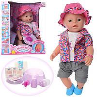 Кукла Беби Борн с аксессуарами в летнем костюмчике аналог