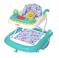 Детские ходунки CARRELLO Oceano CRL-9604 Turquoise 3 в 1 (ходунки, качалка, каталка) ***