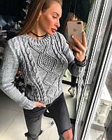"""Женский шикарный вязаный пуловер """"LORA"""" (4 цвета)"""