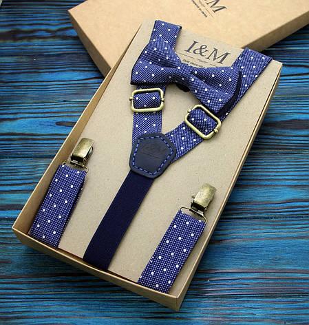 Набор I&M Craft галстук-бабочка и подтяжки для брюк (030220) , фото 2
