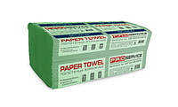 Рушник паперовий Vскладання  PRO service економ зелений , за упаковку