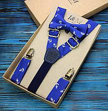 Набор I&M Craft галстук-бабочка и подтяжки для брюк (030216)