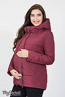 Куртка для беременных и после демисезонная Emma бордо