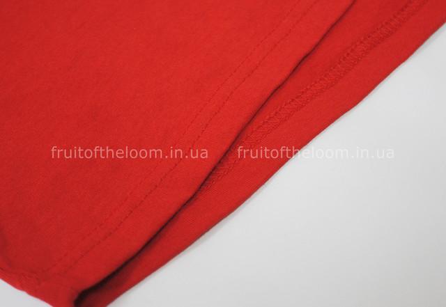 Красная мужская футболка супер премиум