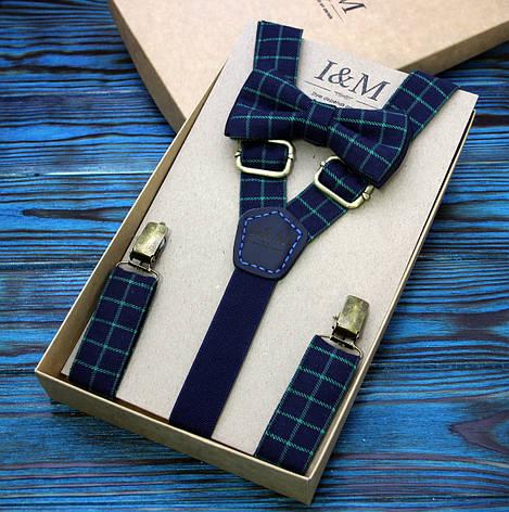 Набор I&M Craft галстук-бабочка и подтяжки для брюк (030223), фото 2