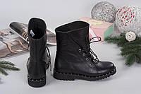 1120 Ботинки на шнурках РР.  Натуральная кожа, внутри на байке. Высота ботинка 25см, Каблук 2,5 см.  Турецкая