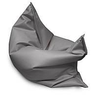 Серое кресло мешок подушка 120*140 см из микро рогожки, кресло мат