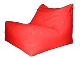 Красное бескаркасное кресло лежак из ткани Оксфорд