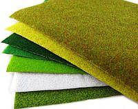 Коврики, имитация травы для макетов 25х25 см