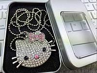 Подарочная ювелирная  флешка со стразами Hello Kitty на 16 гб.