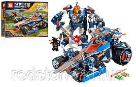 Конструктор SY 566 Nexo Knights 2 в 1 Трансформер(Lego 70315) Устрашающий разрушитель Клэя 432 дет.
