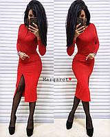 """Женское платье (красный) """"Margaret""""  42-44 единый"""
