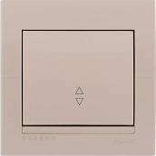 Выключатель 1-кл проходной (крем) Deriy Lezard
