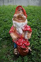 Статуэтка садовая Гном с грибом Оч.Большой
