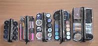 Набор прозрачных женских косметичек для косметики Glory Cases (5шт) Черный