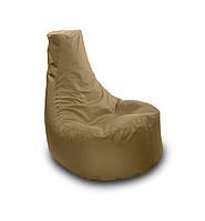 Серое бескаркасное кресло мешок Кайф из Оксфорда