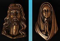 Накладки на памятник Богородица и Иисус Христос из полимера 18 см