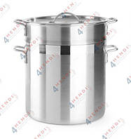 Кастрюля алюминиевая для пельменей, риса и макарон с корзиной и крышкой, 18.00 л, Ø 360 мм