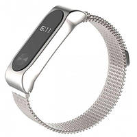 Ремінь для браслету Xiaomi Mi Band 2 металевий Milanese SE Silver