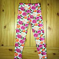 Лосины для девочки Цветы на возраст 5-8 лет Beebaby (Бибеби)