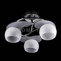 Люстра на три лампочки (хром). P3-3819/3C/CR+WT