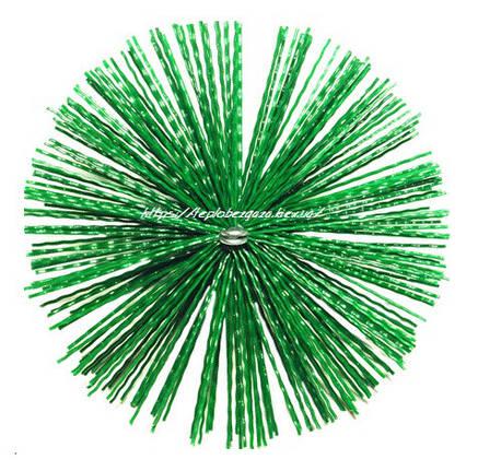 Щетка пластиковая для чистки дымохода 125мм (Польша), фото 2