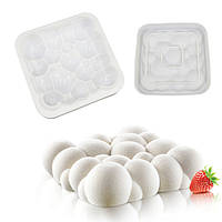 Силиконовая форма для десертов, силикомарт (Silikomart), CLOUD 200*200 h=55mm