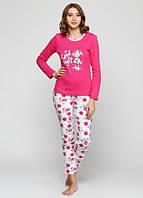 Женская пижама, брюки футболка с длинным рукавом
